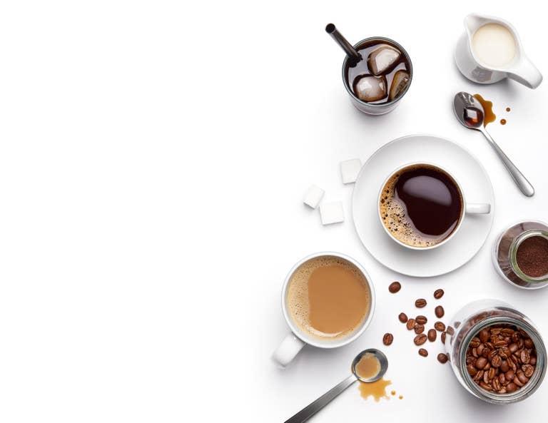 Coffee drinks.