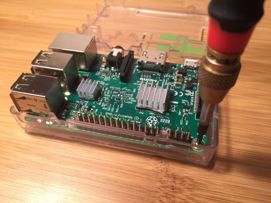 Putting a Raspberry Pi into its case