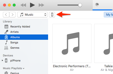 Find your old iPhone in iTunes