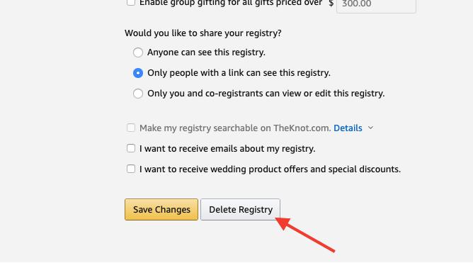Delete Amazon Registry