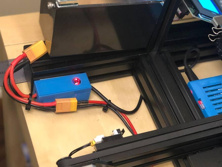 Secured 3D pritner buck converter wires