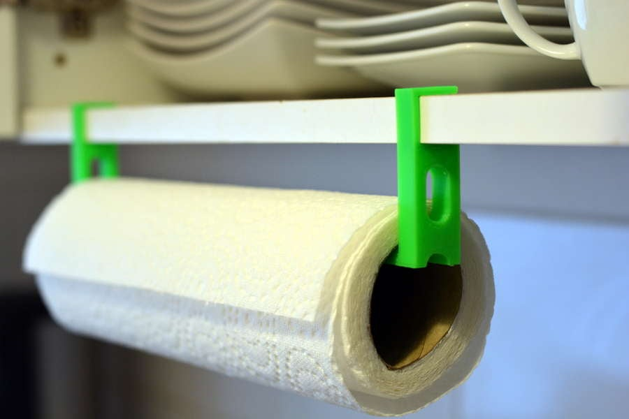 3D-printed paper towel holder