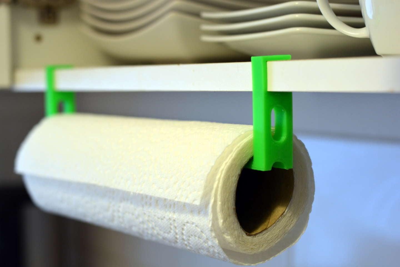 3D-printed paper towel holder