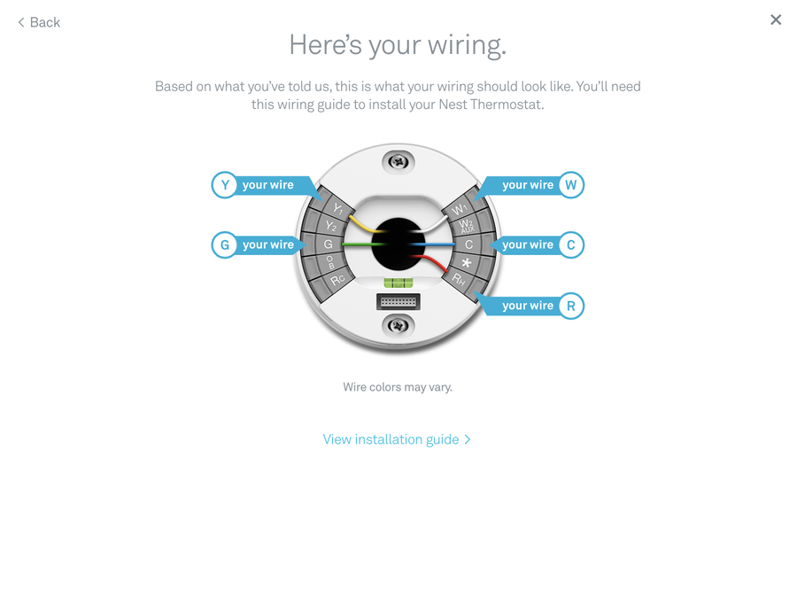 Check to see if the Nest thermostat is compatible with your home