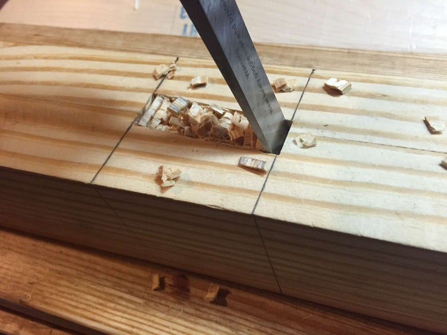 How to cut a mortise by hand