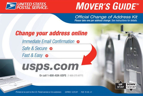 Movers Guide USPS